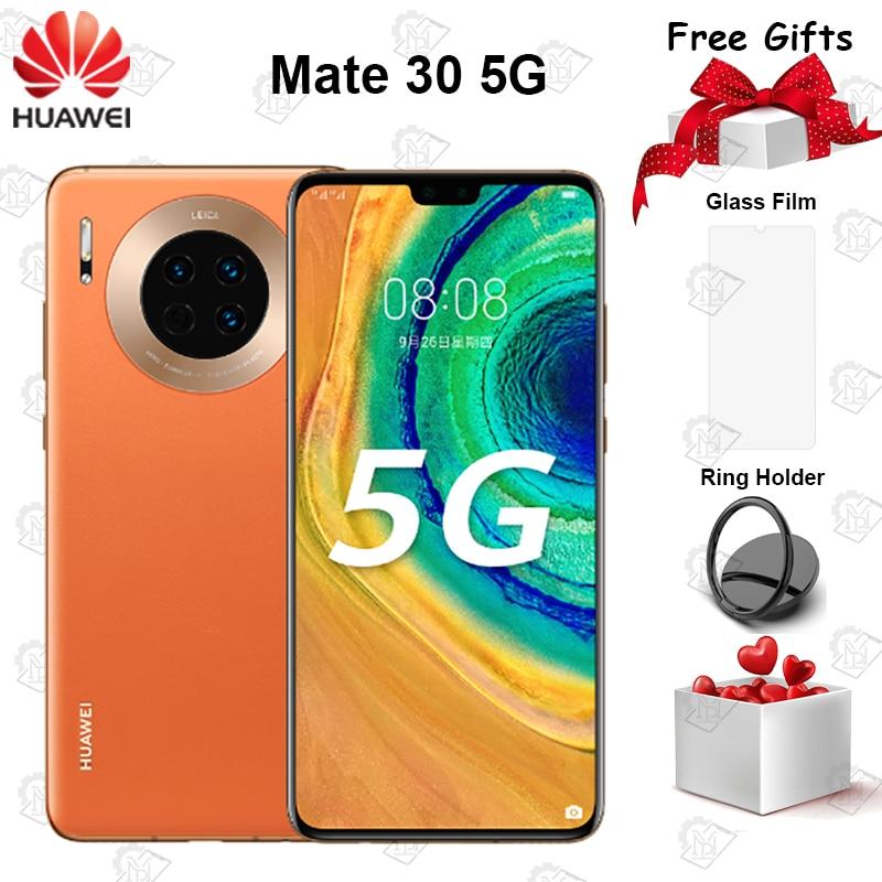 "New Original Huawei Mate 30 5G Mobile Phone 6.62"" 6GB RAM 128GB ROM Kirin 990 Android 10 40MP Triple Rear Cameras Smartphone"