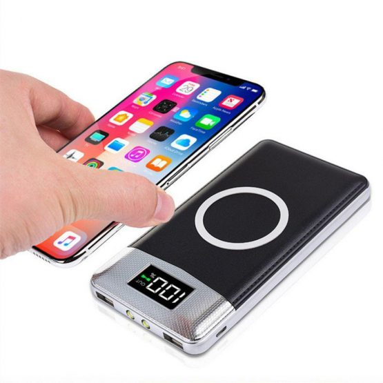 10000mah Powerbank Wireless Charger Fast Charge Power Bank Portable High Capacity Compact Universal External Battery Bank 2020