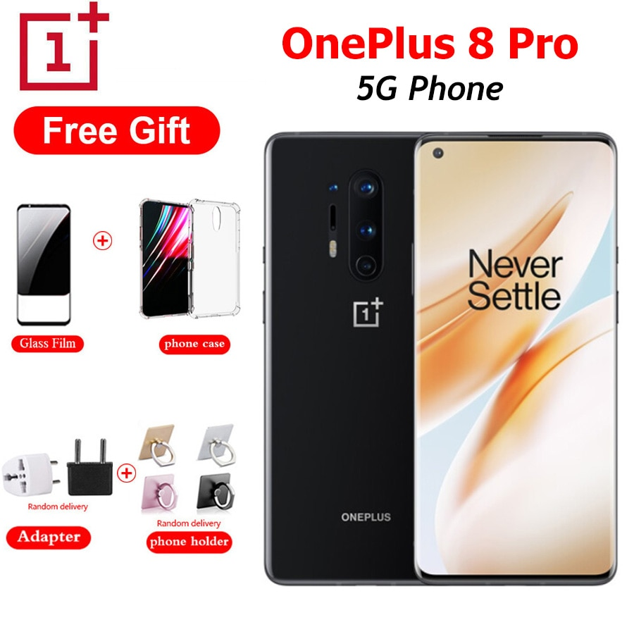 "OnePlus 8 Pro 5G Mobile Phone Dual SIM 8G/12G RAM 128/256G ROM Snapdragon865 6.78""Fullscreen 48MP 4510mAh NFC Android SmartPhone"