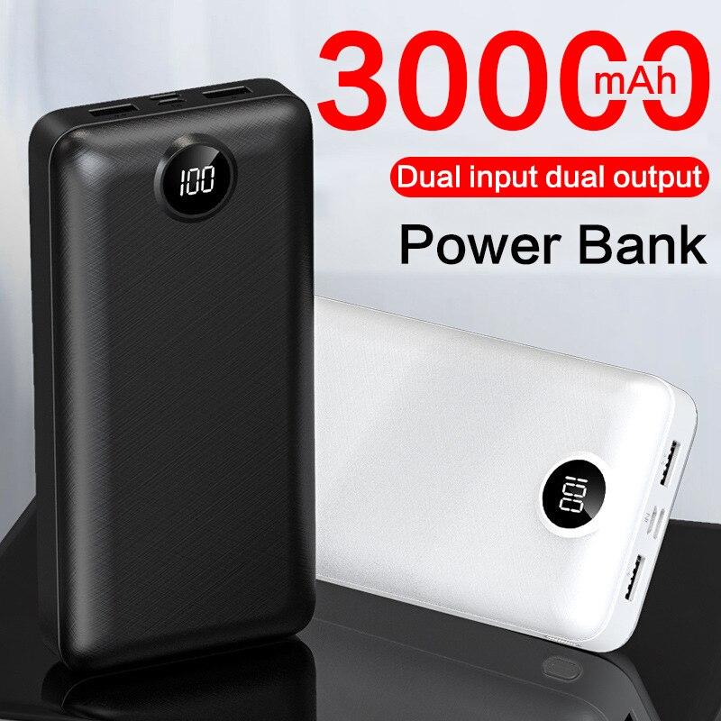 2020 New for Xiaomi Power bank 30000mAh USB Type C Fast Charging Portable Mi Powerbank 30000 External Battery Poverbank