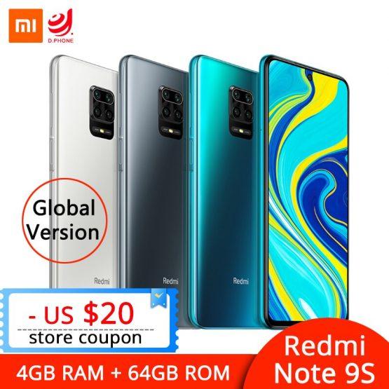 Xiaomi Redmi Note 9S Note 9 S 4GB 64GB Global Version Smartphone Snapdragon 720G Octa Core Mobile Phone 5020mAh 48MP Quad Camera