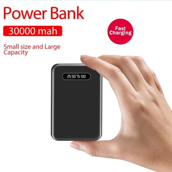2020 High Quality 30000 MAh Business Mini Power BankFor All Mobile Phone 2 USB Ports External Battery Poverbank Freeshipping