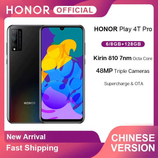 New Arrival Honor Play 4T Pro Smartphone Kirin 810 Octa Core 6.3'