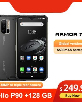 "Ulefone Armor 7E 6.3"" IP68 Rugged Waterproof Mobile Phone Helio P90 Octa Core 4GB 128GB Smartphone Android 9.0 Cellphone 5500mAh"