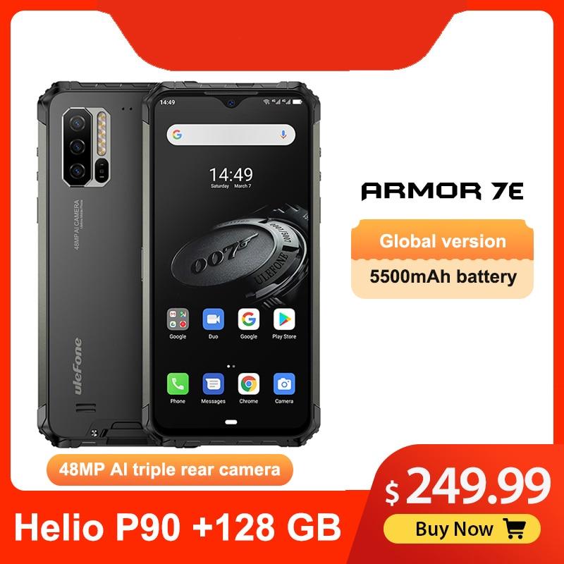 "Ulefone Armor 7E 6.3"" IP68 Rugged Waterproof Mobile Phone Helio P90 Octa Core 4GB 128GB Smartphone Android 9.0 Cellphone 5500mAh"