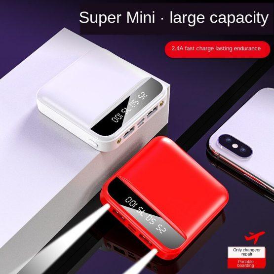 Mini Power Bank 30000mAh 2020 New Large Capacity Portable LED Lighting LCD Digital Display Power Bank External Battery Pack