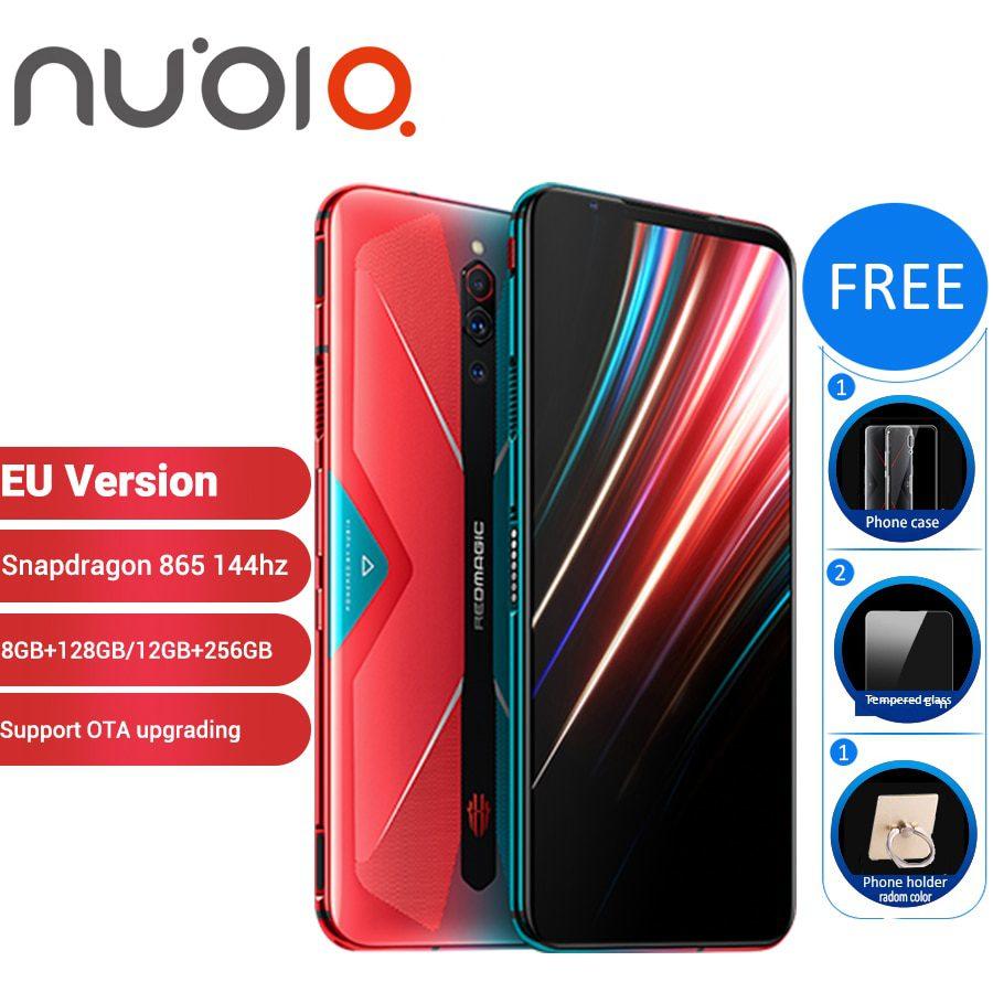 "EU Version Nubia Red Magic 5G 12GB 256GB Gaming SmartPhone 128GB 8GB 6.65"" Snapdragon 865 NFC Redmagic 5G Game Mobible Phone"