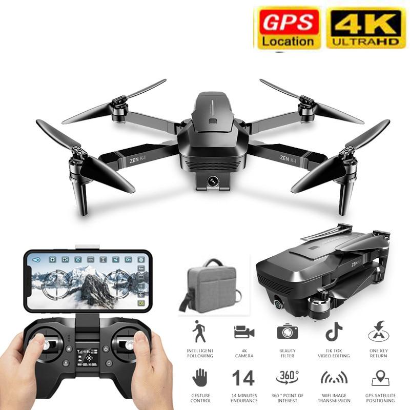 VISUO ZEN K1 RC Drone 5G WIFI GPS Brushless 50X Zoom 4K Dual Camera 30mins Flight Times Beauty Filter Figure RC Quadcopter Drone