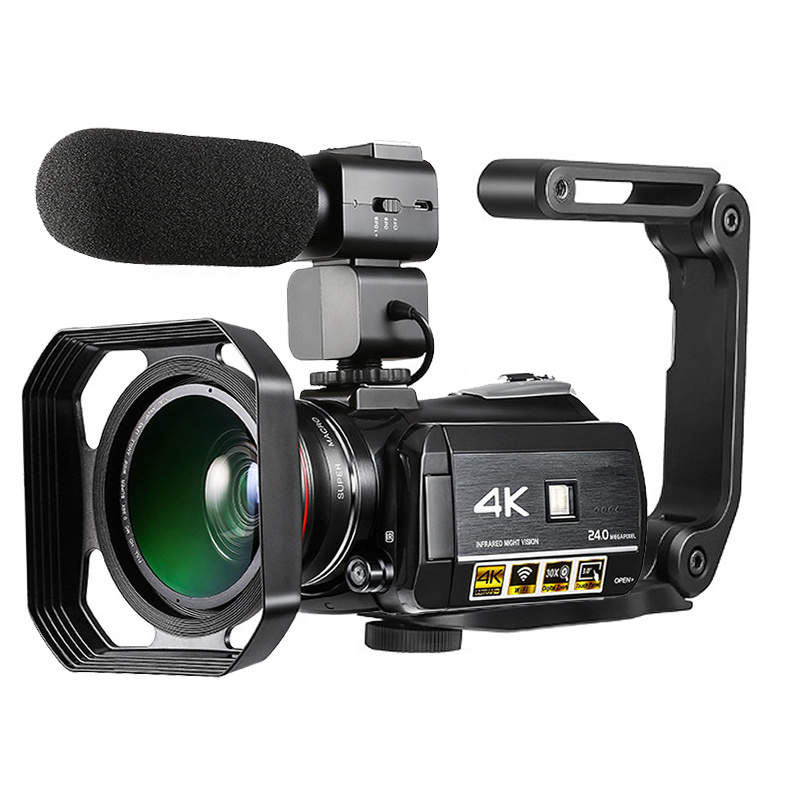 Ordro HDR-AC3 Digital Video Camera DVR 4K 120 FPS 720P Support 0.39X Wide angel lens 5MP CMOS Max 24mp Resolution 3.0 inch