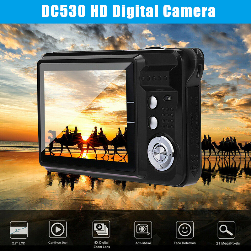2.7Inch TFT LCD HD Screen Digital Camera Anti-Shake Face Detection Camcorder DJA99