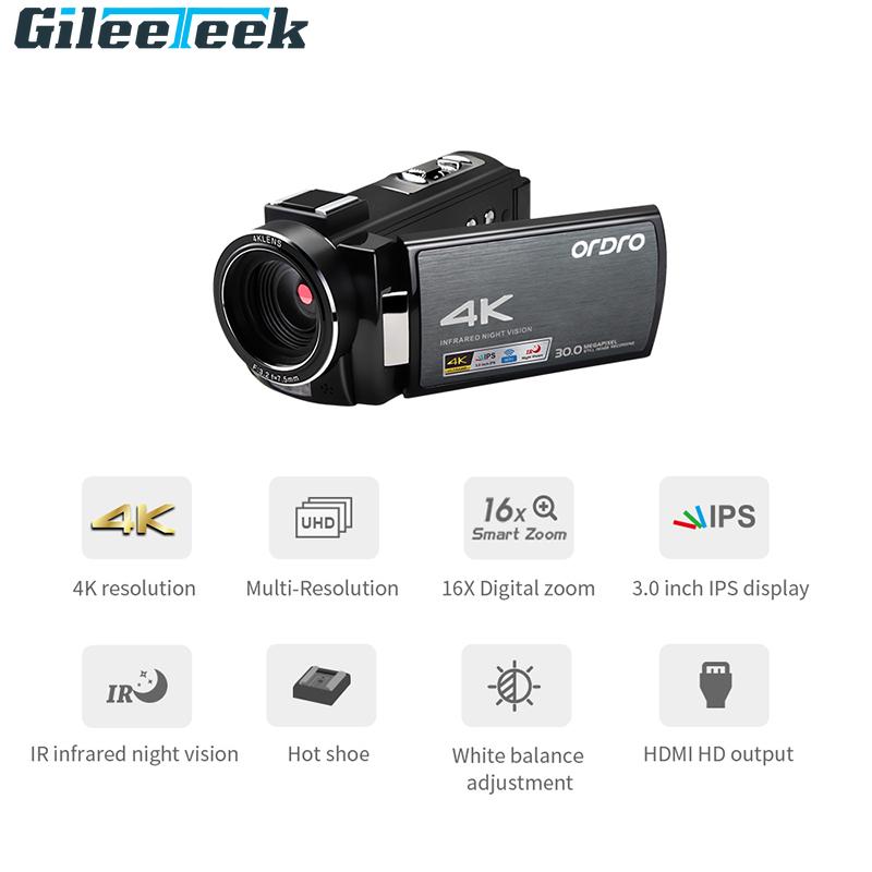16X digital zoom built in 2.4G wifi HDMI output Sony 8.0 CMOS sensor digital video camera cordercamera touch screen vlog camera