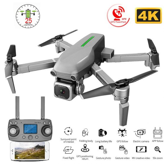 RC Quadcopter Drone GPS 4K HD Camera 5G WIFI FPV Brushless Motor Foldable Selfie Drones Professional 1000m Long Distance