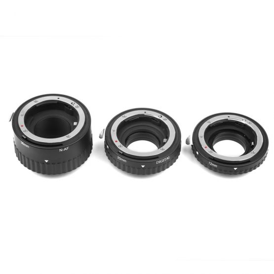 MEIKE Macro Extension Tube MK-N-AF1-B Lightweight Design with DSLR Cameras and SLR Lenses Auto Focus