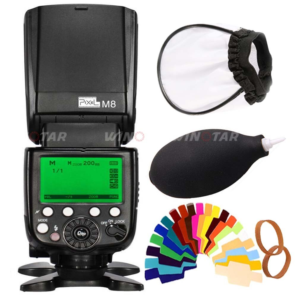 Pixel M8 2.4GHz Universal GN60 Wireless Flash Speedlite For Canon Nikon Sony Panasonic Olympus Pentax DSLR Cameras Flash Light