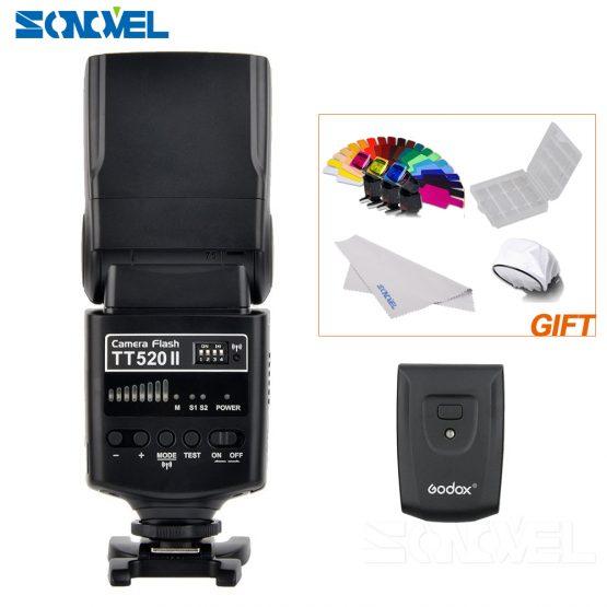 Godox TT520 II Flash TT520II with Build-in 433MHz Wireless Signal for Canon Nikon Pentax Olympus DSLR Cameras