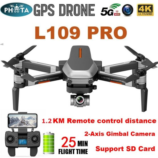 GPS Drone 4K Two-Axis Anti-Shake Gimbal Camera HD L109 Pro X1 PRO GPS Drone 4K Two-Axis Anti-Shake Gimbal Camera HD 5G WIFI FPV Brushless Motor 1.2km Long Distance RC Quadcopter