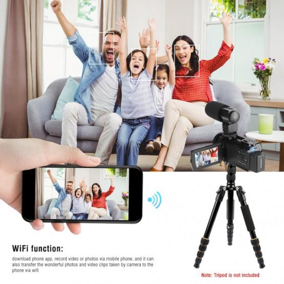 4K 48MP WiFi Digital Video Camera Camcorder with Night Vision Function camaras