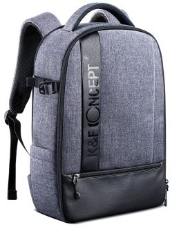 "K&F Concept Professional Camera Backpack Large Capacity Waterproof Photography Bag for DSLR Cameras,14-15"" Laptop,Tripod,Lenses"