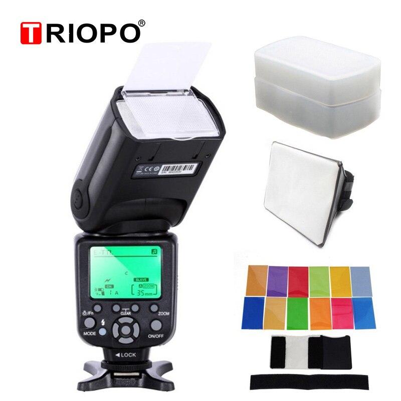 TRIOPO TR-988 Professional Speedlite TTL Flash with High Speed Sync for Canon 5D 1200D Nikon d5300 d200 d3400 d3100 DSLR Cameras