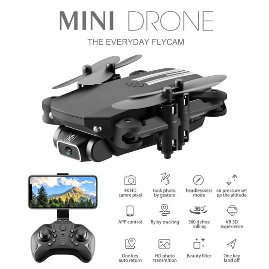 LS-MIN 4K HD Camera Drone Quadcopter WIFI FPV Foldable Drones Wide Angle Camera Aerial Photography Helicopter Quadrocopter Drone