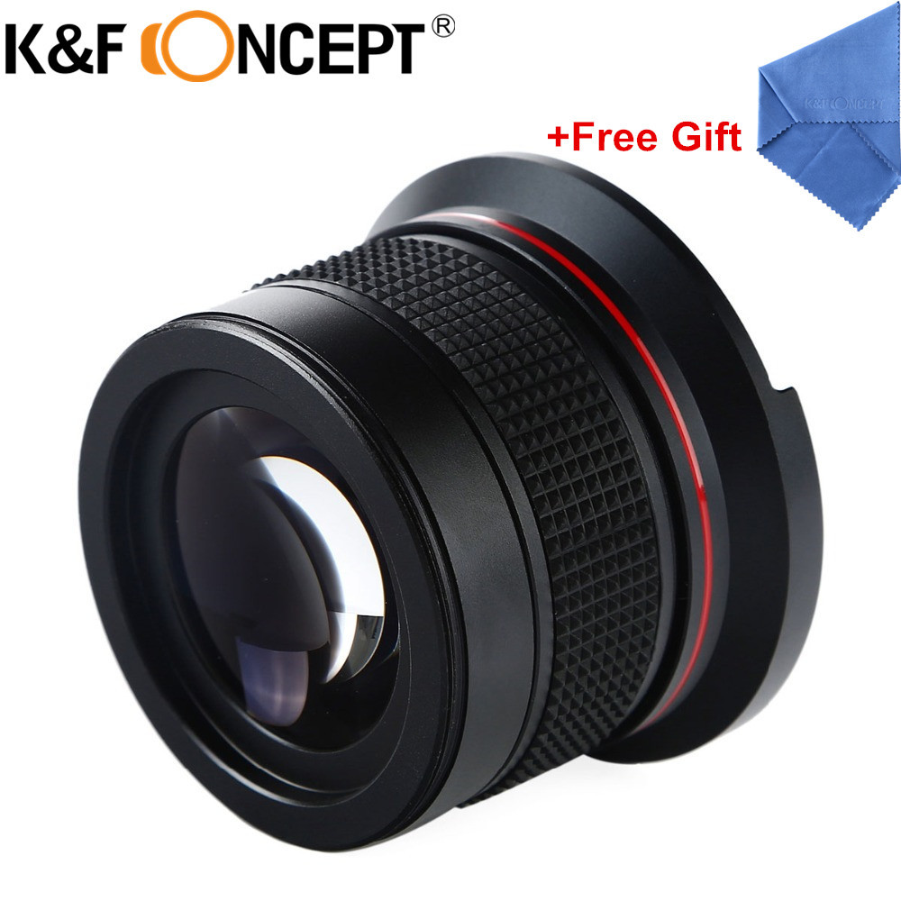 K&F CONCEPT 58MM 0.35X Fisheye Macro Wide Angle Lens Ultra Clear Blue Film Coated For DSLR Lenses Camera Canon 600d Nikon Sony