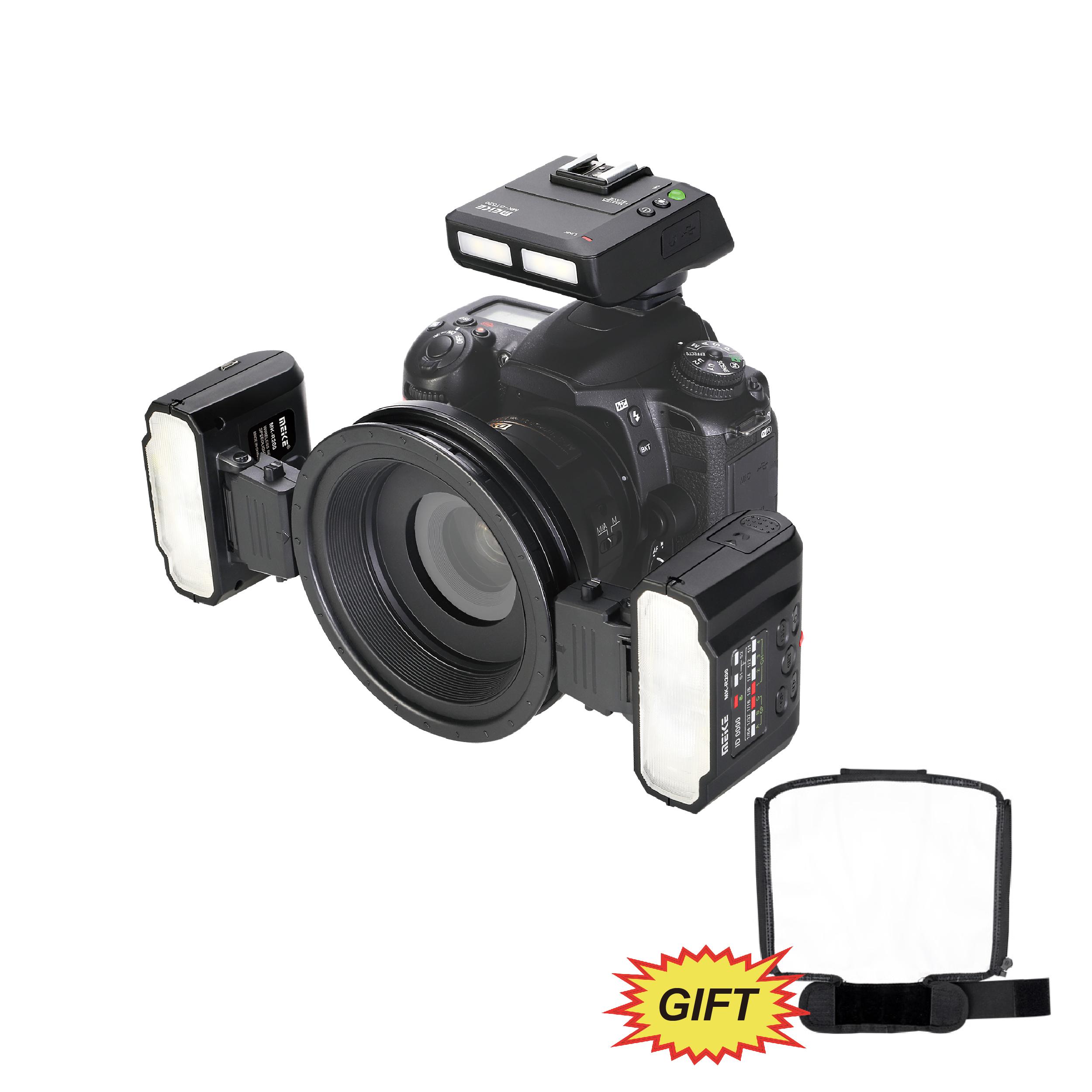 MEKE Meike MK-MT24 Macro Twin Lite Speedlight Flash for Canon DSLR Camera 70D 60D 760D 750D 550D 450D 1200D 5D 6D EOS M3+GIFT