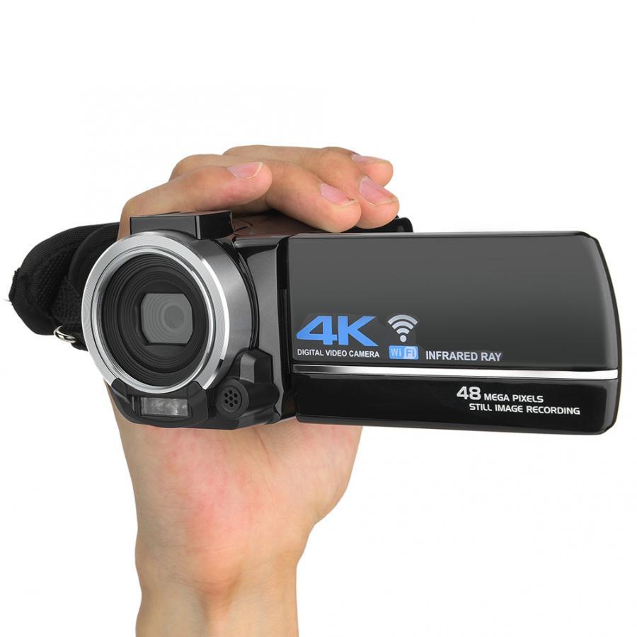 DV-FR485 270 Degree Rotation 3 Inch IPS Screen 4K 48MP HD Digital DV Camera 16X Zoom Wifi Remote Control