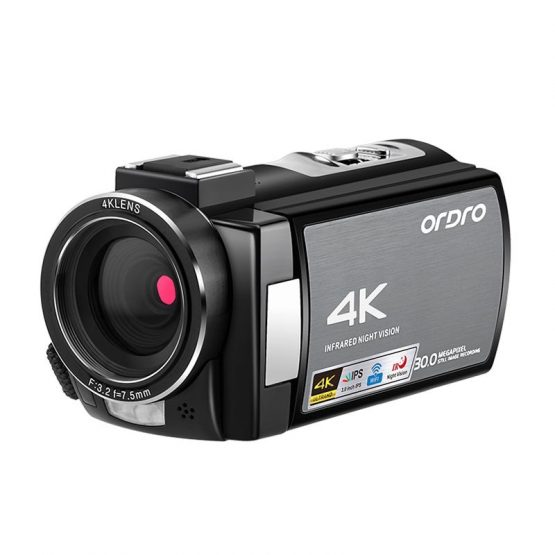 Ordro WIFI AE8 Vlog Camera Full HD Touch Screen 4K Ordro WIFI AE8 Vlog Camera Full HD Touch Screen 4K Video Kamera Digital IR Night time Imaginative and prescient Camera Fotografica Profesional Camcorder