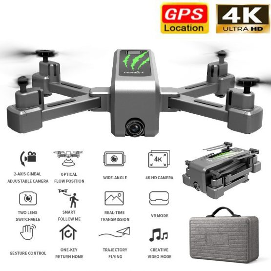 Drone With HD Aerial Video Camera 4k WIFI PFV RC Drones Rc Helicopter Fpv Quadrocopter Dron Foldable Toy Drone