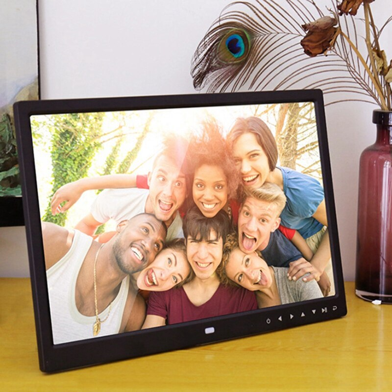 15.4 Inch Digital Photo Frame Press Button Electronic Photo Album Full Format 1080P Wall Hanging Display Advertising Machine