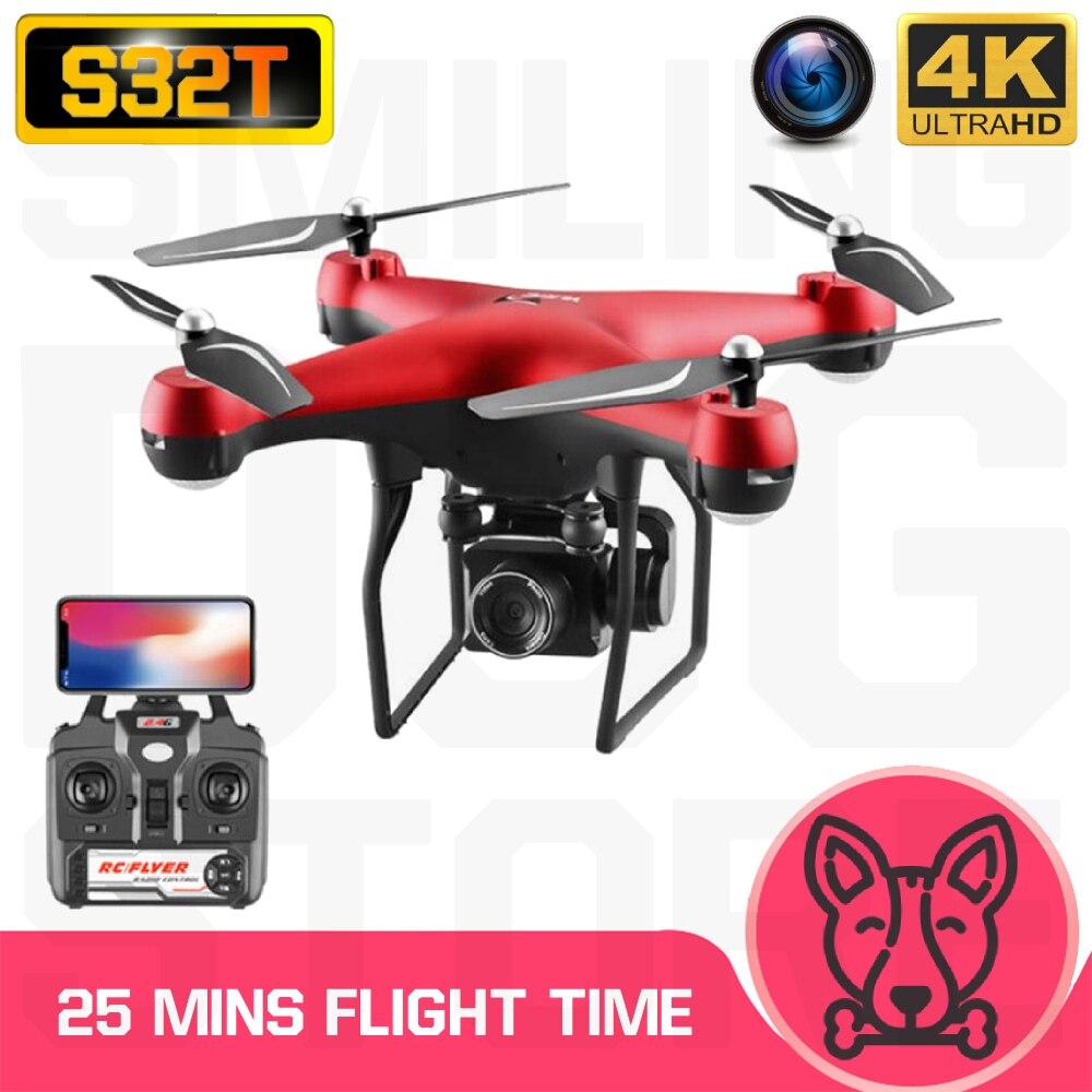 RC Quadcopter S32T Drone 4K HD ESC Wide Angle Camera WIFI FPV Altitude Holding Selfie Drones Professional 25min Flight Time