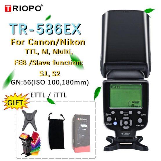 Triopo TR-586EX Wireless Mode TTL Speedlite Speedlight For Canon 5D Nikon D750 D800 D3200 D7100 DSLR Camera as YONGNUO YN-568EX