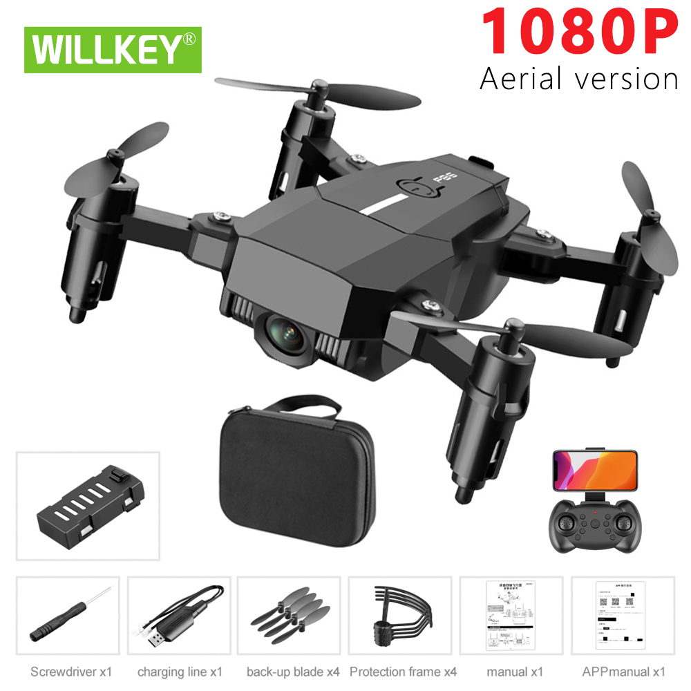 Willkey F86 Drone 1080P HD Camera RC Mini Foldable Quadcopter WIFI FPV Selfie Optical Flow Quadcopter RC Helicopter Toy For Kids