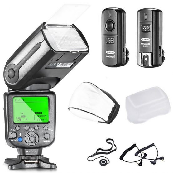 Neewer NW565EX Professional E-TTL Slave Flash Speedlite Kit for Canon DSLR Cameras