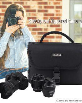 CADEN Padded Camera Bag Zippered Design Shockproof Camera Bag for Nikon Canon Sony DSLR Cameras Lenses High Quality