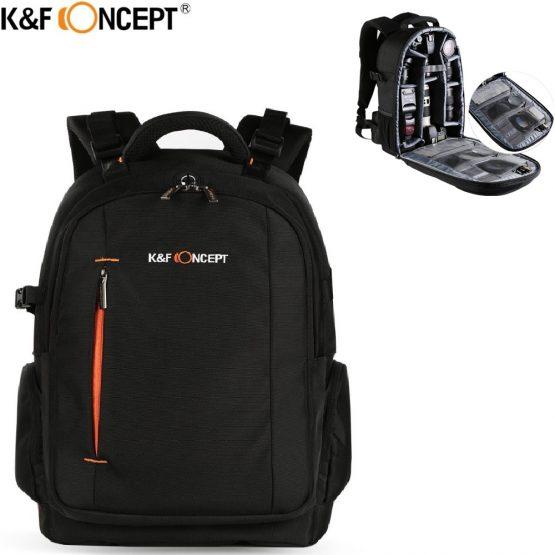 K&F CONCEPT Waterproof Camera Backpack Multi-functional DSLR SLR Camera/Video Bag hold 2 Cameras+Lenses+Accessories for Travel