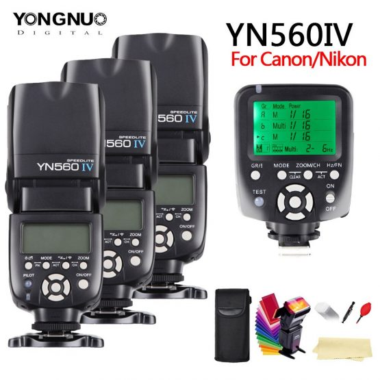 yongnuo YN560 IV YN560IV 2.4G Wireless Master&Group flash Speedlite + YN560TX For Nikon Canon Pentax Olympus Pentax DSLR Camera