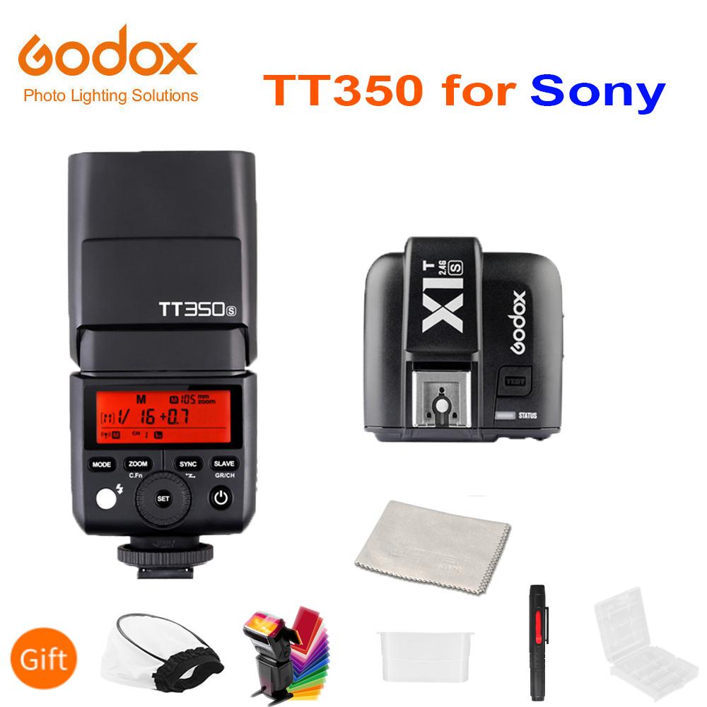 Godox Mini Speedlite TT350S Camera Flash TTL HSS GN36 + X1T-S Transmitter for Sony Mirrorless DSLR Camera A7 A6000 A6500 A7RII