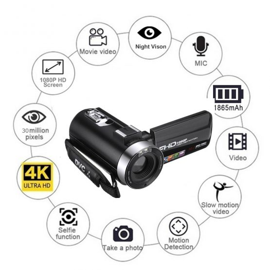 30MP Professional 4K 1080P HD Camcorder Video Camera Night Vision 30MP Professional 4K 1080P HD Camcorder Video Camera Night Vision 3.0 Inch HD Camera 18X Digital Zoom Camera With Mic