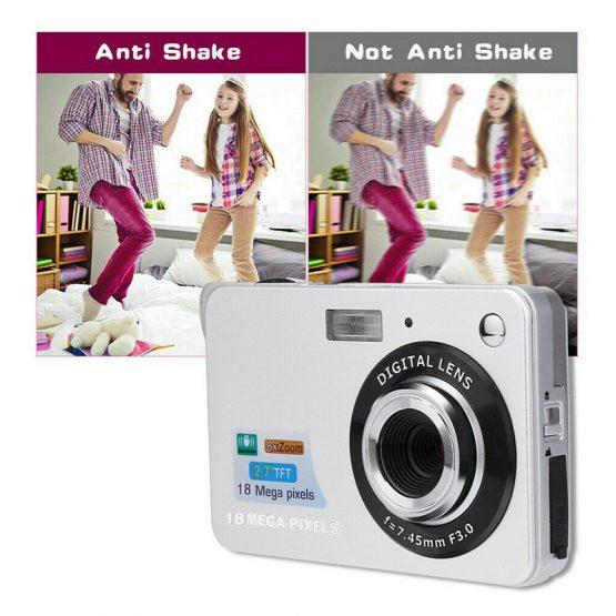HD Screen Digital Camera Anti-Shake Face Detection 2.7Inch TFT LCD HD Screen Digital Camera Anti-Shake Face Detection Camcorder VH99