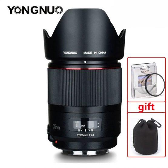 YONGNUO YN35MM F1.4 Wide Angle Lens for Canon Bright Aperture Prime DSLR Camera Lenses for Canon 600D 60D 5DII 5D 500D 400D lens