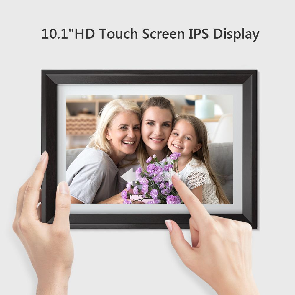 Dragon Touch Digital Photo Frame Classic10 WiFi 10 inch LED IPS Touch Screen HD Display Picture Frame Share Photos via App Email