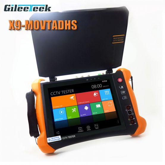 Monitor H.265 4K 8MP camera Full-featured professional test tool X9MOVTADHS IPC Tester Monitor H.265 4K 8MP camera Full-featured professional test tool with TDR, Cable tracer, Digital Multimeter