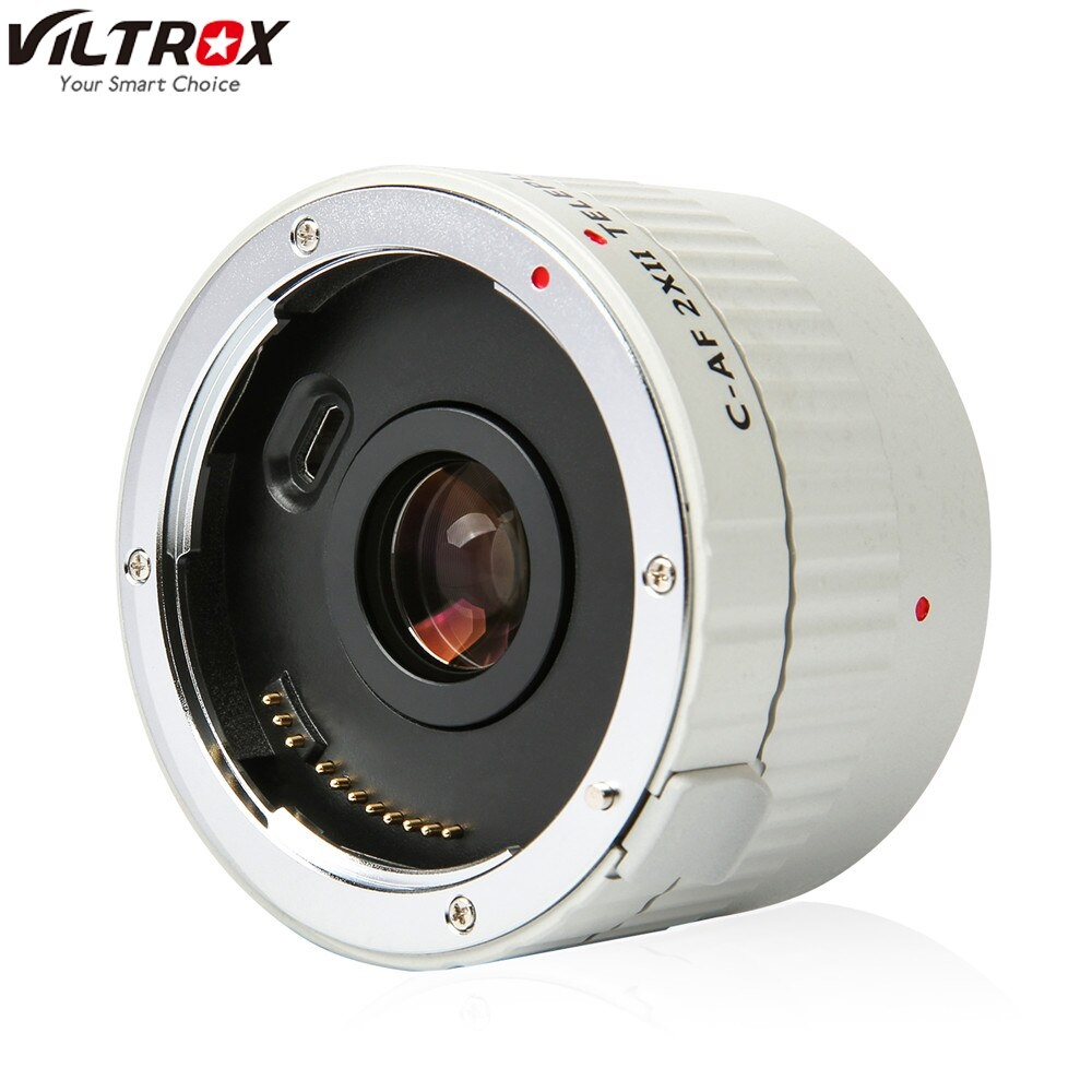 VILTROX C-AF 2X II AF Auto Focus Teleconverter Lens Extender Magnification Camera Lenses for Canon EF Mount Lens DSLR Camera
