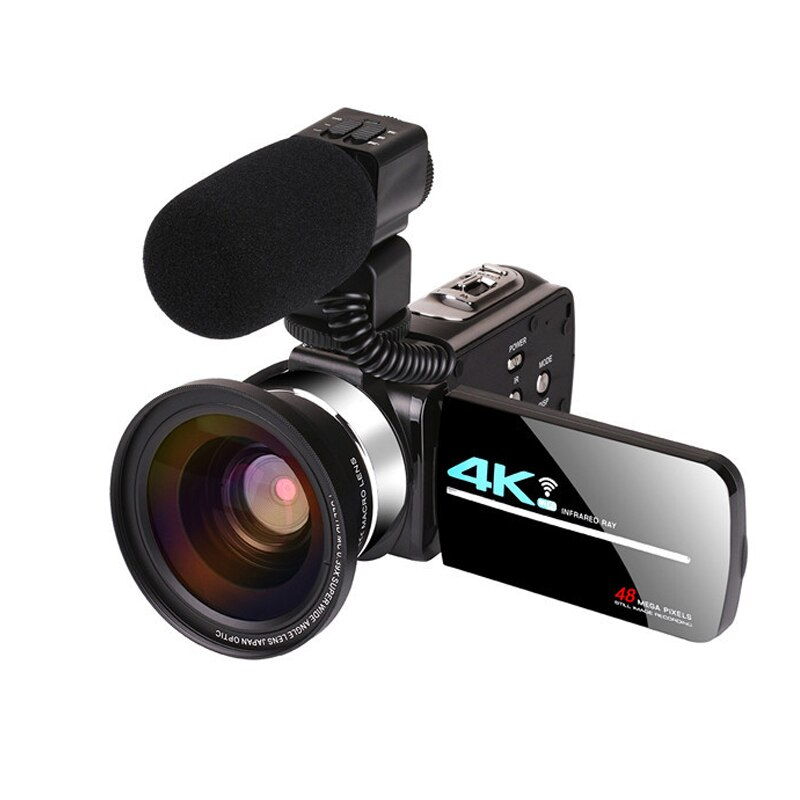 48 Megapixel 4K HD Digital Camera WIFI Wedding DV Live Video Recorder