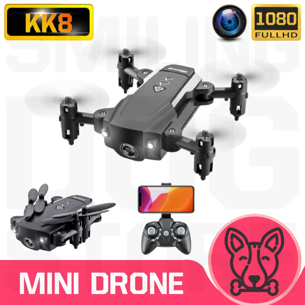 KK8 Mini Drone With/Without HD Camera Hight Hold Mode WiFi FPV Foldable Helicopter VS E61 HS210 E511S S9HW E016H RC Quadcopter