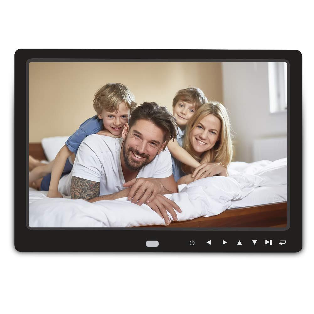 1080P HD Digital Photo Frame Remote Control Support 32G SD USB for Pictures Videos Digital Photo Frame