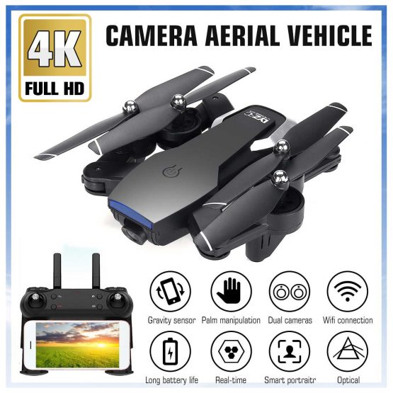 2.4G L107 1080P Dual Wifi Cameras Drone 120M RC Drone GPS Full Wide-Angle Camera APP RC Camera Drone GPS