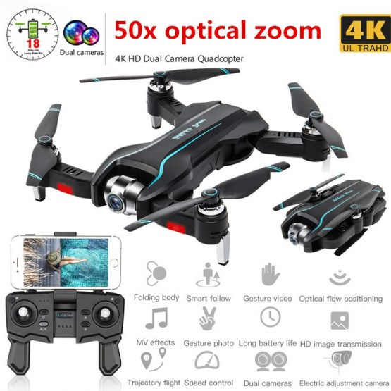 New Drone 4k HD Camera 50x zoom Drone WiFi FPV No Signal Return RC Helicopter Flight 15 Minutes Quadcopter Drone with Camera