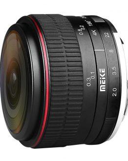 MEIKE MK-6.5mm F2.0 Fisheye Lens Fixed Focus Lens EF-M Mount Lense Large Aperture Auto Focus Lens For Canon DSLR Camera